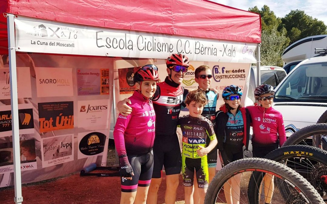 Bèrnia-Xaló cycling school achieving very good results in the Valencian County Mountain Bike Open (Open BTT).