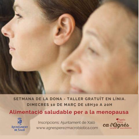 TALLER ALIMENTACIÓ SALUDABLE MENOPAUSA