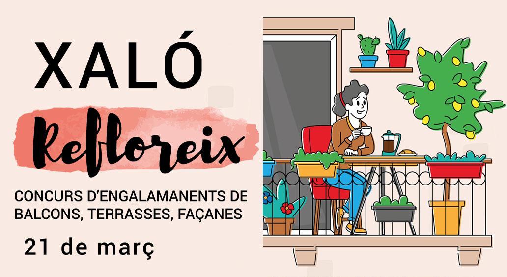 """Xaló convoca """"Refloreix"""", un concurs d'engalanament de balcons, terrasses i façanes"""